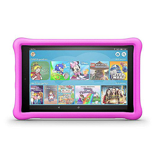 Amazon Fire HD 10 Kids Edition Tablet WiFi 32 GB Kid Proof Case pink B079Z2MLW6 auf Rechnung bestellen