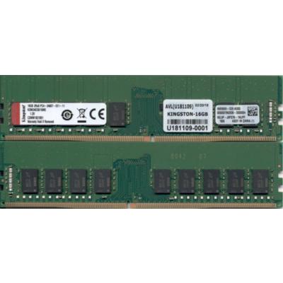 Kingston 16GB  Server Premier DDR4-2400 ECC CL17 288-Pin Speicher   0740617278316