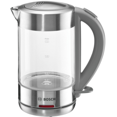 Bosch TWK7090B Wasserkocher 1,5 Liter Glas Edelstahl