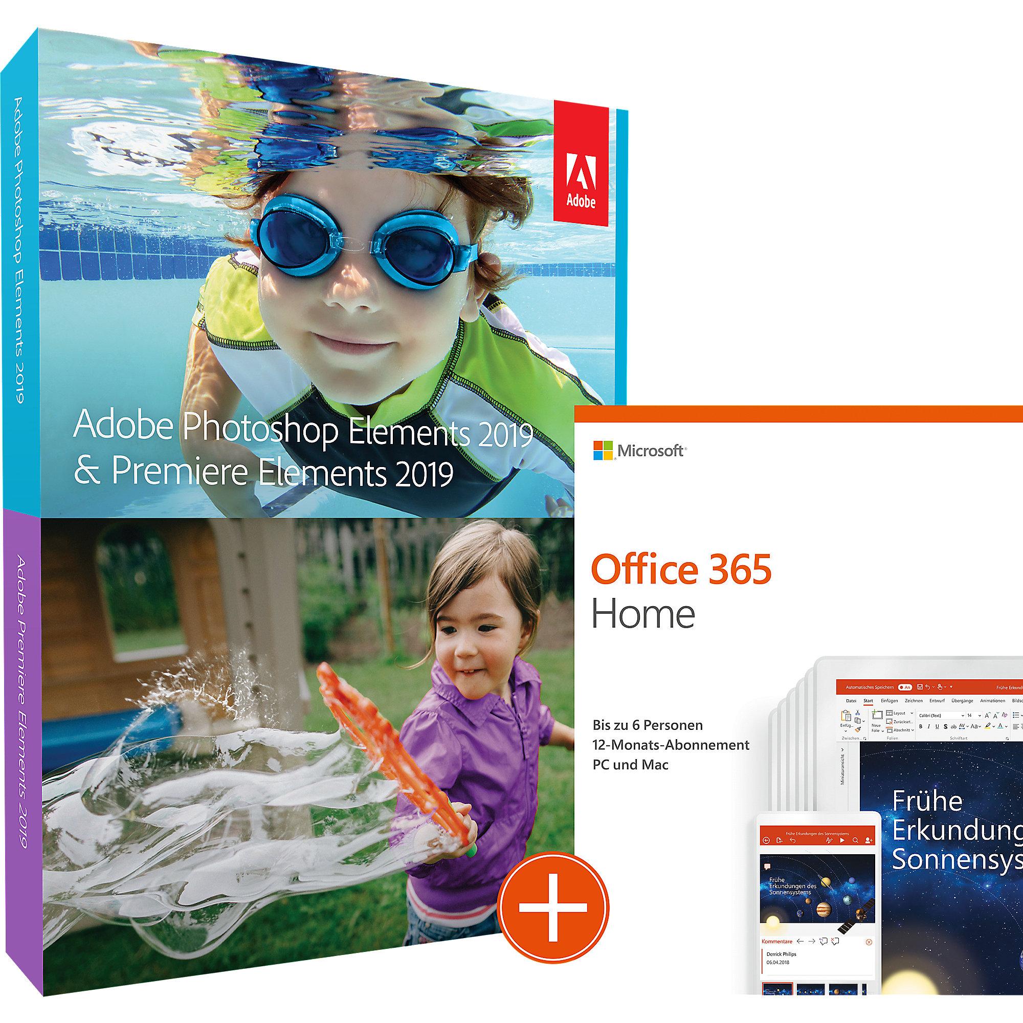 Microsoft Office 365 Home Adobe Photoshop Und Premiere Elements 2019