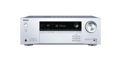 Onkyo TX-SR494-S 7.2 AV Receiver 4K HDR Dolby Atmos Bluetooth silber