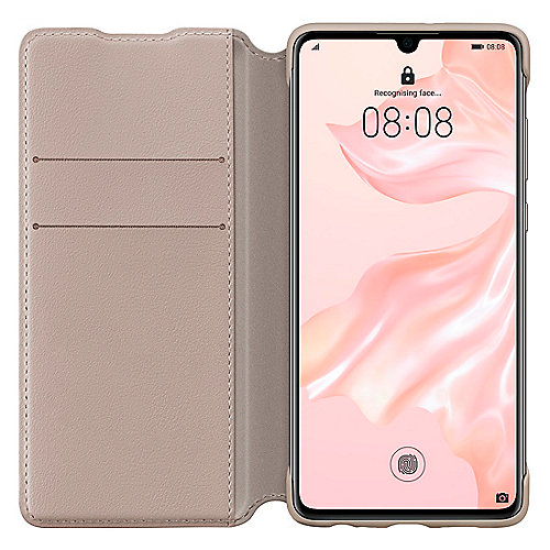 Huawei P30 Booklet Wallet Cover Khaki