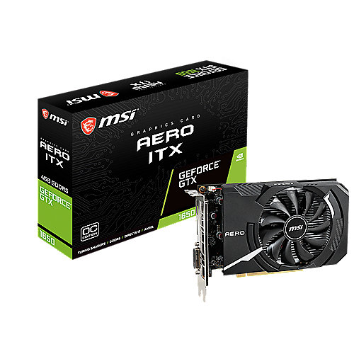 MSI GeForce GTX 1650 AERO ITX 4G OC 4GB GDDR5 Grafikkarte HDMI/DP/DVI