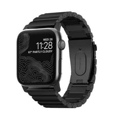 Nomad Strap Titanium Armband für Apple Watch 42 44mm schwarz
