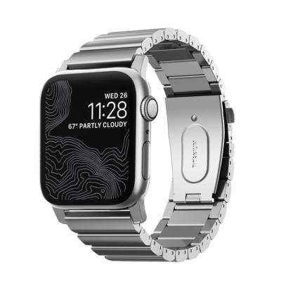Nomad Strap Titanium Armband für Apple Watch 42 44mm silber