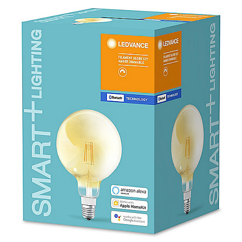 Ledvance SMART+ Filament Globe 5,5W (45W) E27 BT klar dimmbar Warmweiß