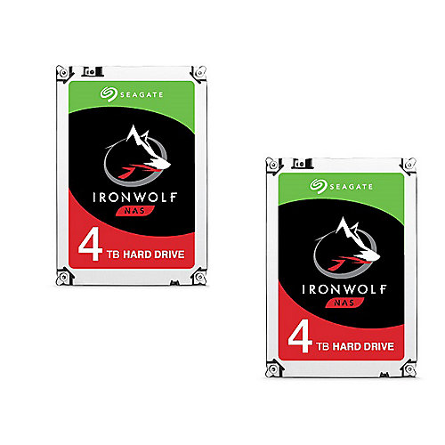 Seagate 2er Set IronWolf NAS HDD ST4000VN008 - 4TB 5900rpm 64MB 3.5zoll SATA600