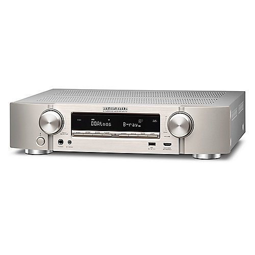 Marantz NR1710 7.2 AV Receiver 4K AirPlay WLAN BT Spotify Heos Silb/Gold kompakt