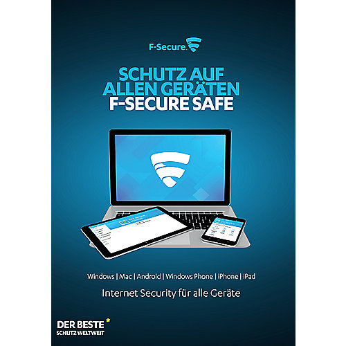 F-Secure Total Security + VPN 3 Geräte 1Y (Version 2018) ESD