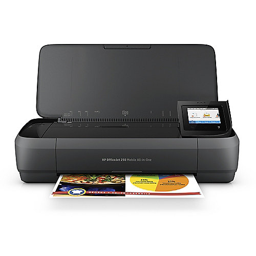 HP OfficeJet 250 Mobiler Drucker Scanner Kopierer WLAN