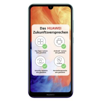 HUAWEI Y7 2019 Dual SIM aurora blue Android 8.0 Smartphone auf Rechnung bestellen