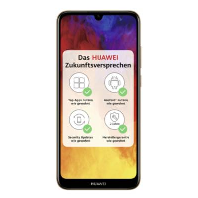 HUAWEI Y6 2019 Dual SIM amber brown Android 9.0 Smartphone auf Rechnung bestellen