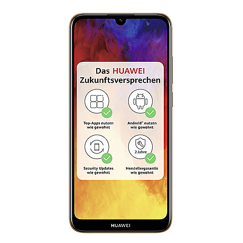 HUAWEI Y6 2019 Dual-SIM amber brown Android 9.0 Smartphone