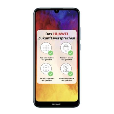HUAWEI Y6 2019 Dual SIM sapphire blue Android 9.0 Smartphone auf Rechnung bestellen