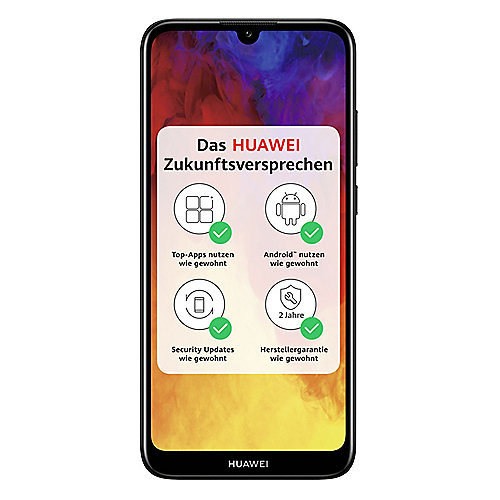 HUAWEI Y6 2019 Dual-SIM midnight black Android 9.0 Smartphone