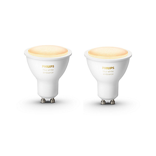 Philips Hue White Ambiance GU10 LED Lampe Doppelpack 2x 5,5 W Bluetooth