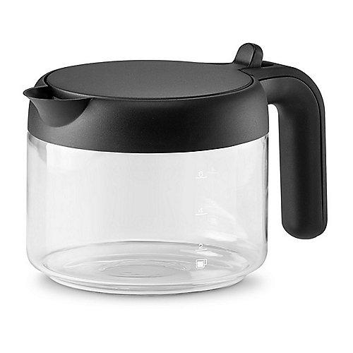 für Kaffeemaschine Glas Kaffeekanne Glaskanne mit Kunststoffdeckel Glas