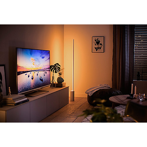 Philips Hue White /& Color Ambiance Signe Stehleuchte aluminium Bluetooth