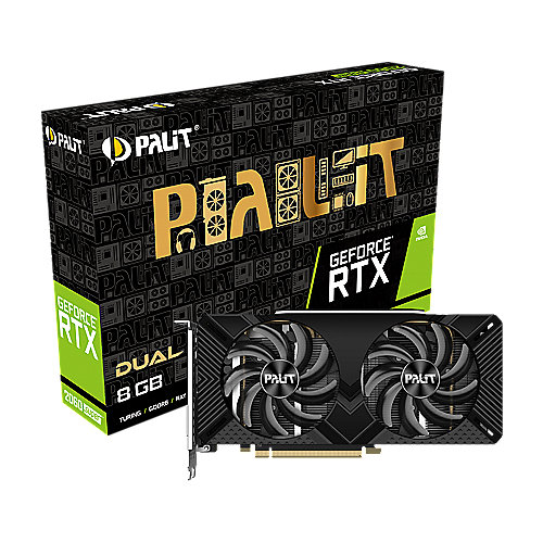 Palit GeForce RTX 2060 SUPER Dual 8GB GDDR6 Grafikkarte 1xDP/DVI/HDMI
