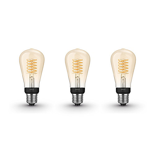 Philips Hue White E27 Filament ST64 LED Lampe 7 W Bluetooth
