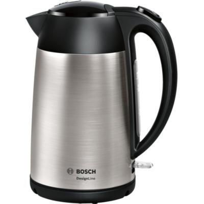 Bosch TWK3P420 Wasserkocher, DesignLine, kabellos 1,7 l, 2.400 W, edelstahl