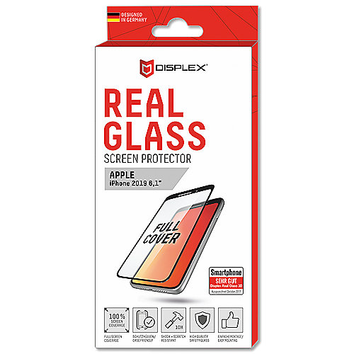 Displex Real Glass 3D for iPhone 2019 XR black