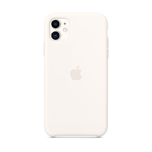 Apple Original iPhone 11 Silikon Case-Weiß