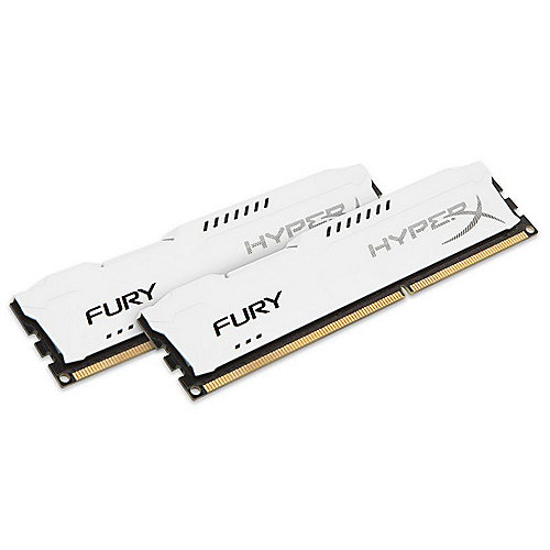 8GB (2x4GB) HyperX Fury weiß DDR3-1600 CL10 RAM Kit