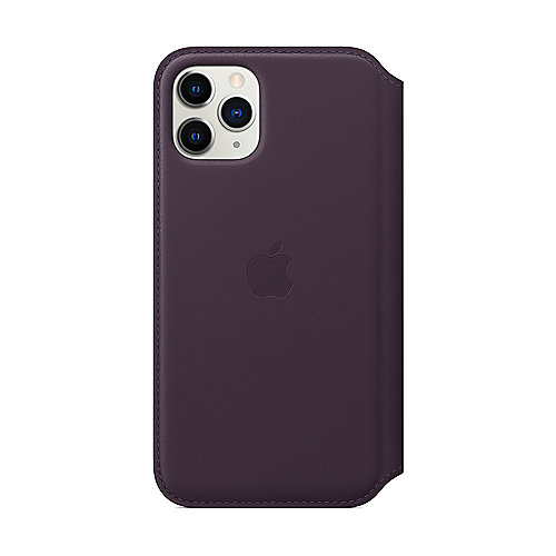 Apple Original iPhone 11 Pro Leder Folio Case-Aubergine