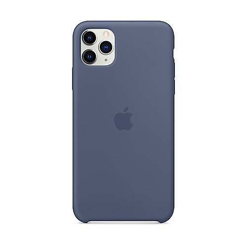 Apple Original iPhone 11 Pro Max Silikon Case-Alaska Blau