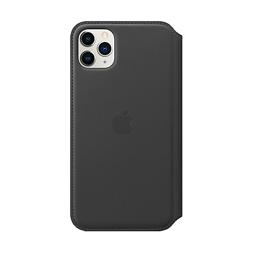 Apple Original iPhone 11 Pro Max Leder Folio Case-Schwarz