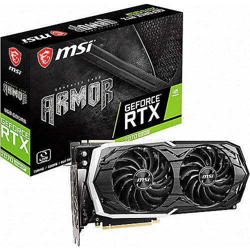 MSI GeForce RTX 2070 Super Armor OC 8GB GDDR6 Grafikkarte 3xDP/HDMI