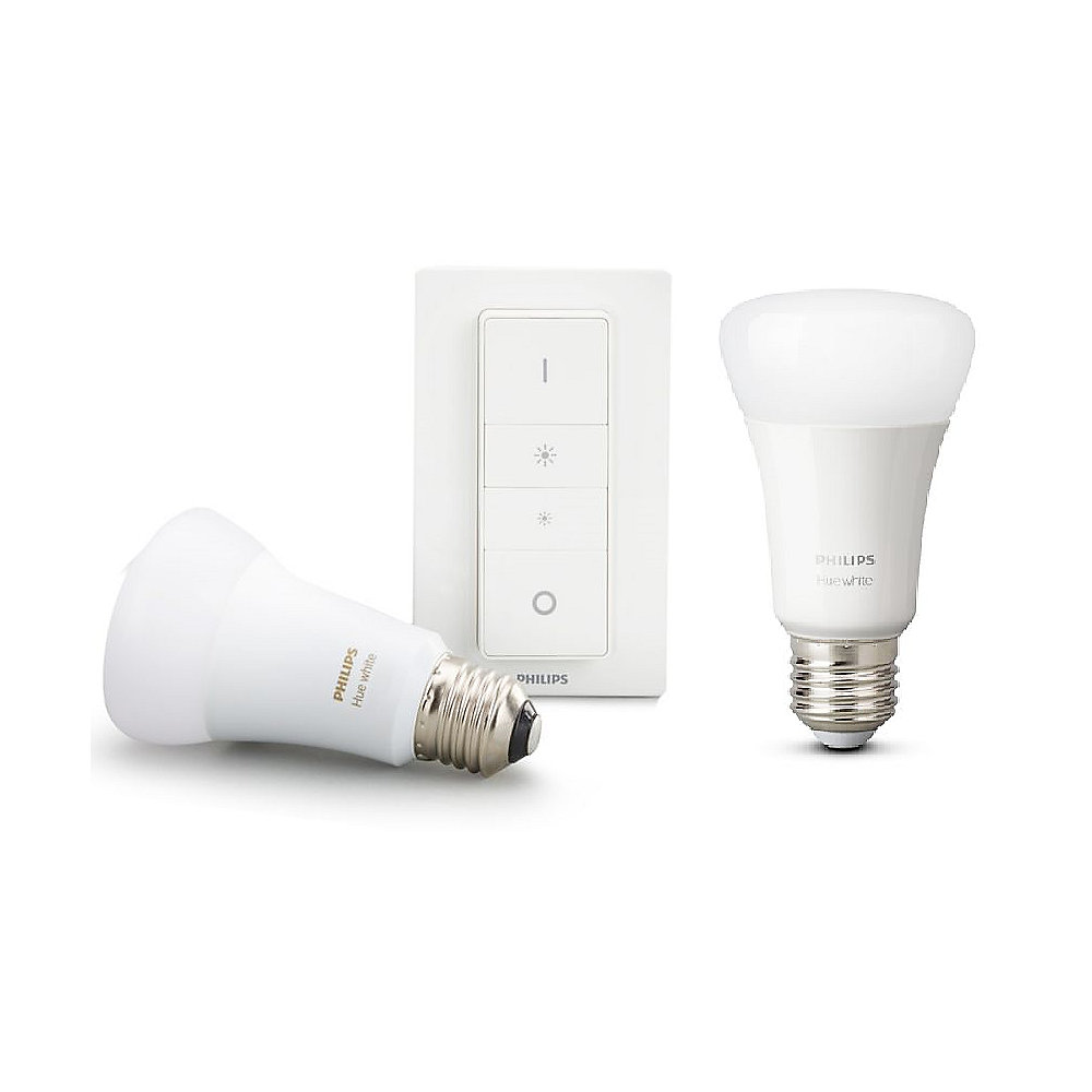 Philips Hue White E27 Bluetooth Wireless Dimming Kit mit Dimmschalter & 2 E27LED