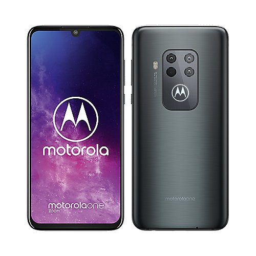Motorola One Zoom baltic gray Android 9.0 Smartphone