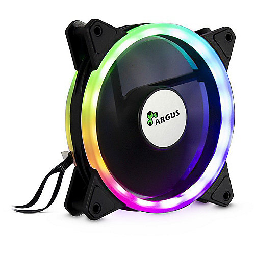 Inter-Tech Argus RGB-Fan Set RS04 mit Fernbedienung, 3x 120mm Lüfter, RGB Leiste