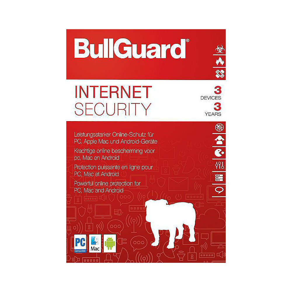 BullGuard Internet Security 2018 3 Devices 3 Jahre - ESD