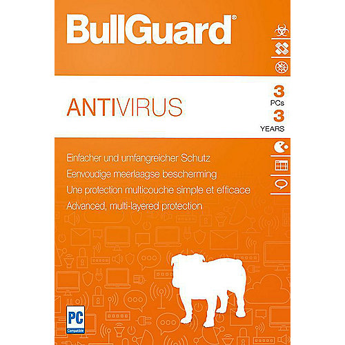 BullGuard Antivirus 2018 3 Devices 3 Jahre - ESD