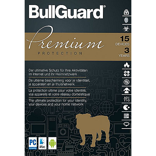 BullGuard Premium Protection 2018 15 Devices 3 Jahre - ESD