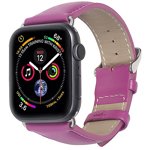 StilGut Leder Armband für Apple Watch 38/40 mm Lila