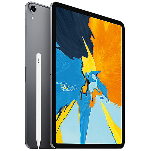 "Apple iPad Pro 11"" 2018 Wi-Fi 64 GB Space Grau MTXN2FD/A + Apple Pencil 2. Gen"