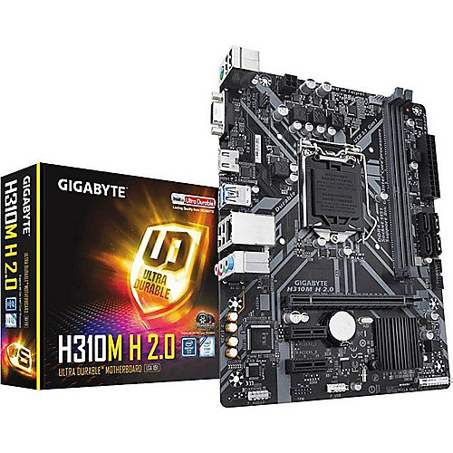 Gigabyte H310M H 2.0 mATX Mainboard 1151v2 (Coffee Lake), VGA, HDMI