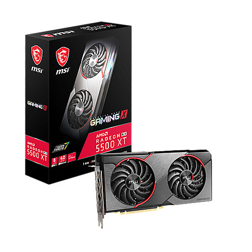MSI AMD Radeon RX 5500 XT Gaming X OC 8GB Grafikkarte GDDR6 HDMI/3x DP