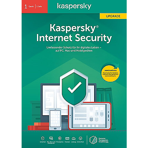 Kaspersky Internet Security Upgrade 1Gerät | 1Jahr | FFP