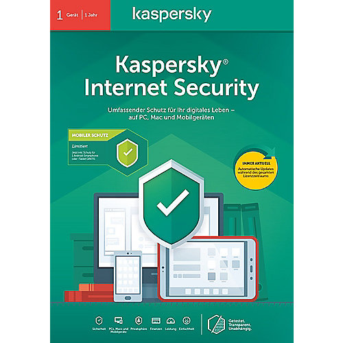Kaspersky Internet Security 1Gerät + Android Security 1 Gerät | 1Jahr | FFP