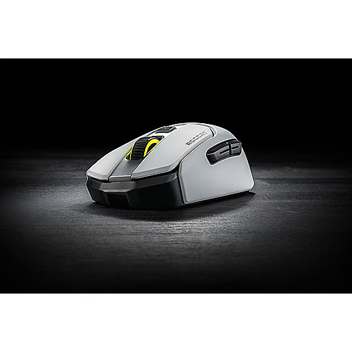 ROCCAT Kain 202 AIMO Kabellose RGB Gaming Maus weiss