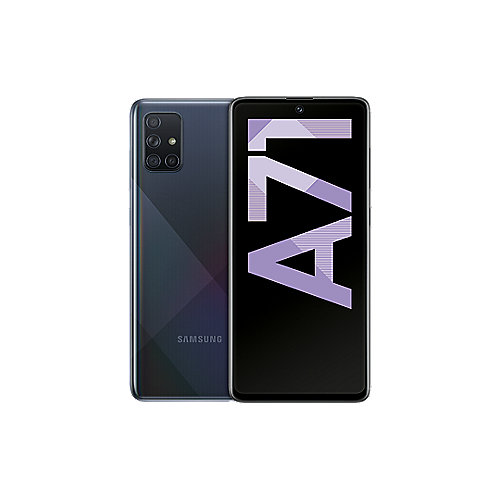 Samsung GALAXY A71 A715F Dual-SIM 128GB crush black Android 10.0 Smartphone