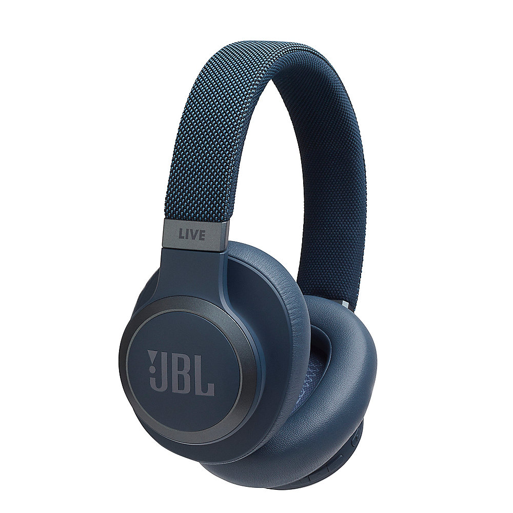 JBL LIVE 650BTNC - Over-Ear Bluetooth-Kopfhörer, Noise Cancelling, blau