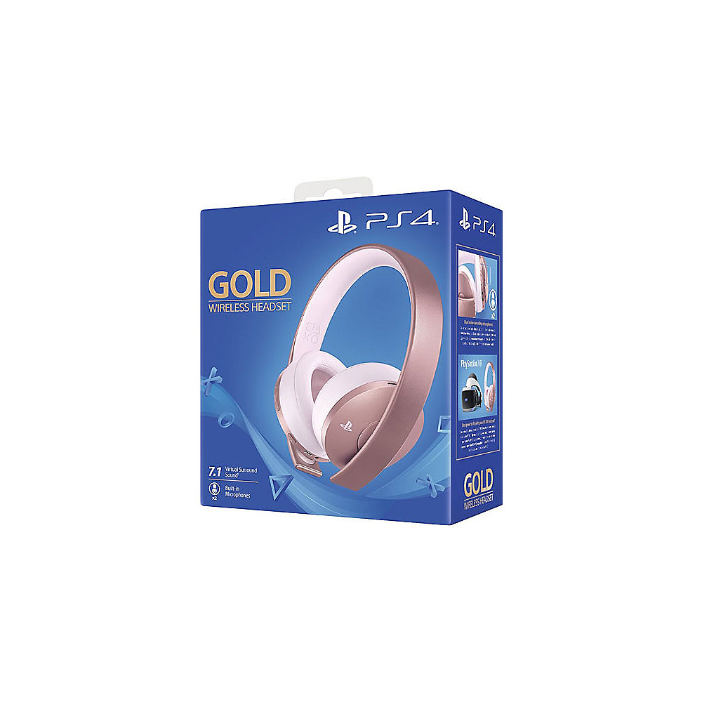 Sony Playstation Wireless Stereo Headset Gold Edition Rose Gold