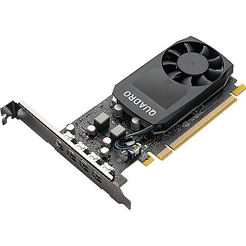 PNY NVIDIA Quadro P1000 V2 4GB PCIe 3.0 Workstation Grafikkarte 4x Mini-DP/DVI