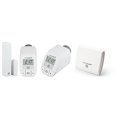 Homematic IP Starterset Basic I mit Access Point + 2 Thermostaten + Tür/-Fenster